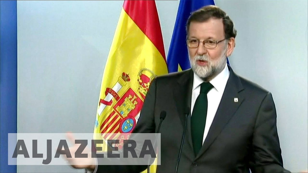Spain's Prime Minister Rajoy set to announce direct rule on Catalonia
