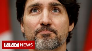 George Floyd protests: Trudeau's epic pause when asked about Trump's response - BBC News
