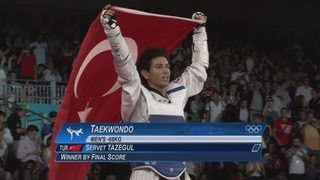 Men's Taekwondo -68kg Gold Medal Final - Turkey v Iran | London 2012 Olympics(Check out the brandnew Olympic Channel: http://go.olympic.org/watch?p=yt Full highlights from the Men's Taekwondo -68kg Gold Medal Match between ..., 2012-08-09T22:30:50.000Z)