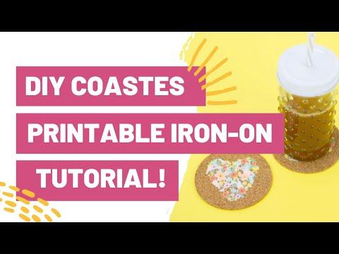 DIY COASTERS - PRINTABLE IRON-ON TUTORIAL!