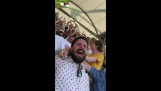 Ben Stokes Winning Stroke at Leeds 3rd Test Ashes 2019. Fans Erupts in joy!!!!