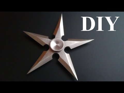 How to make a Shuriken or Ninja Star Fidget Spinner