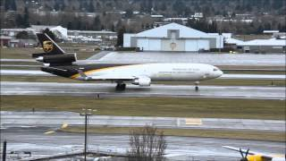 United Parcel Service MD-11 N296UP Takeoff at PDX