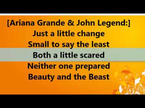 Beauty And The Beast - Tale As Old As Time LYRICS [Ariana Grande & John Legend]