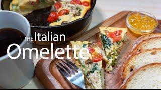 ある日の食卓〜 Italian omelette (スキレットでイタリアンオムレツ) ...