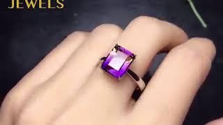 Classic Style Ametrine Stone Engagement Ring @KDRjewels