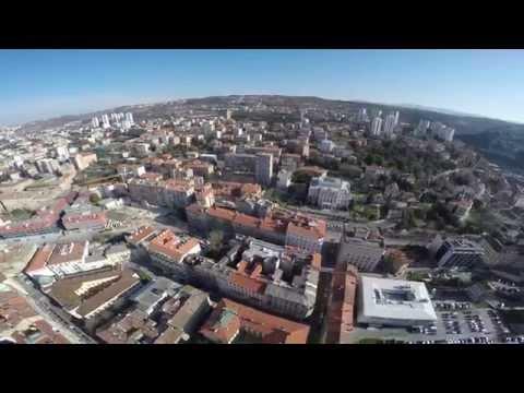 Riječka razglednica - Rijeka iz iz zraka - 4K video
