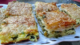 Spinach and cheese filo Traybake - Borek