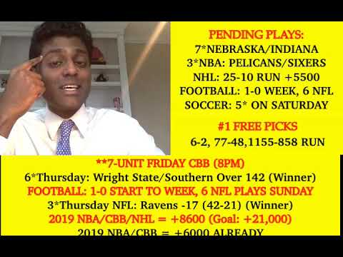 NFL Picks, Predictions Week 15 (12-13-19), 7*CBB Today 8pm, 1-0 Week In Football (6 NFL Plays To Go)