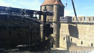 Load in at Carcassonne. Only way in was over the fortified city wal...