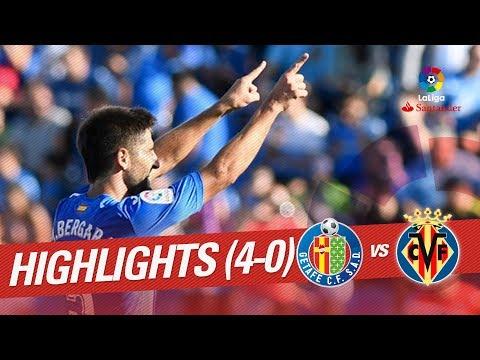 Resumen de Getafe CF vs Villarreal CF (4-0)