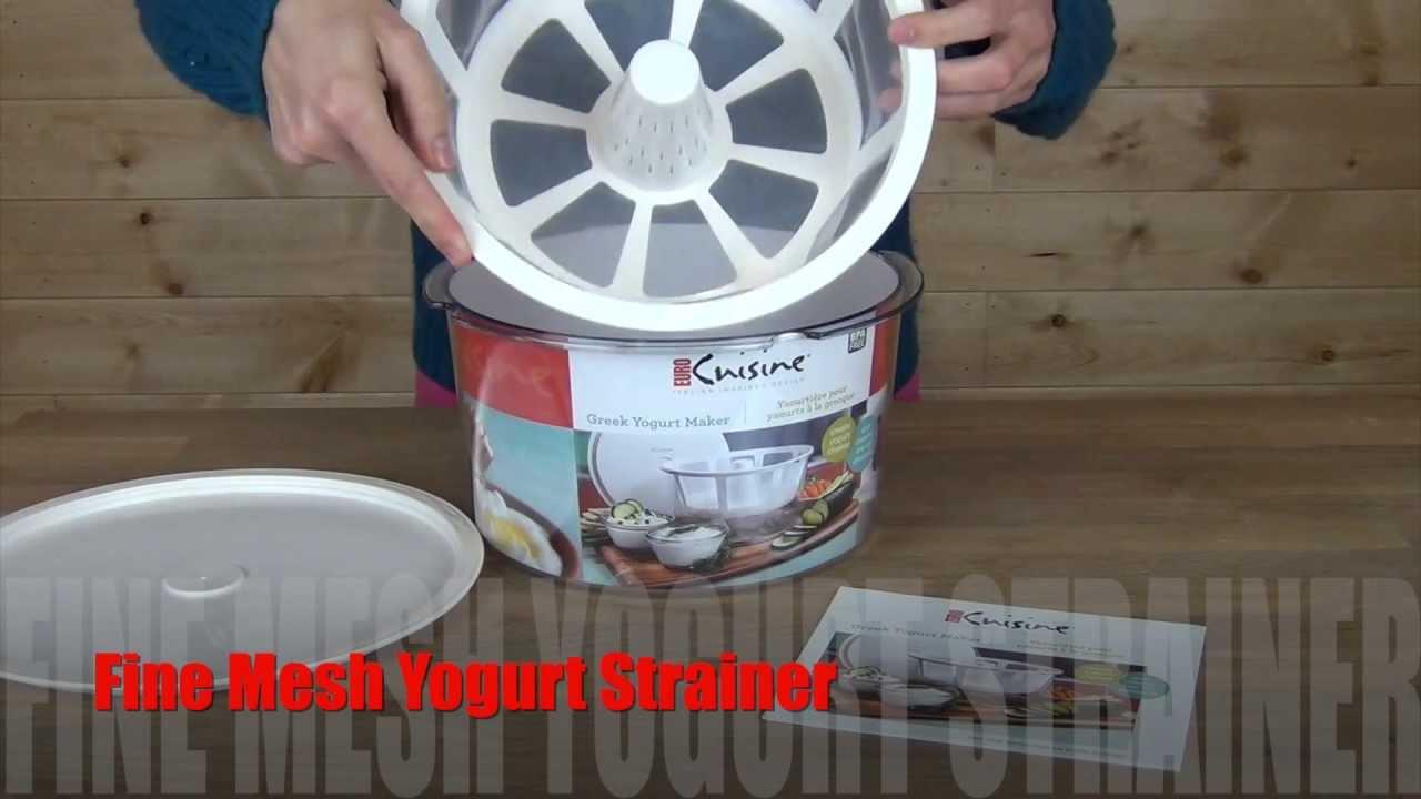 Euro Cuisine Greek Yogurt Maker Strainer Kit Gy50 Product Overview