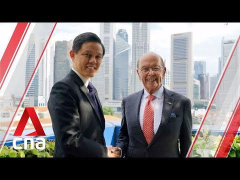Trade and Industry Minister Chan Chun Sing meets US Secretary of Commerce Wilbur Ross