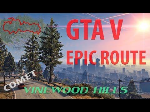 GTA V Epic route Vinewood Hills