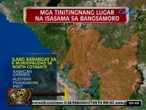 24 Oras: Rehiyon ng Bangsamoro, ipapalit sa ARMM base sa framework agreement ng gobyerno at MILF