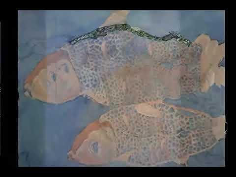 "stephanie villanueva  ""Bangus 18"" x 24"" acrylic on canvas a demostration"