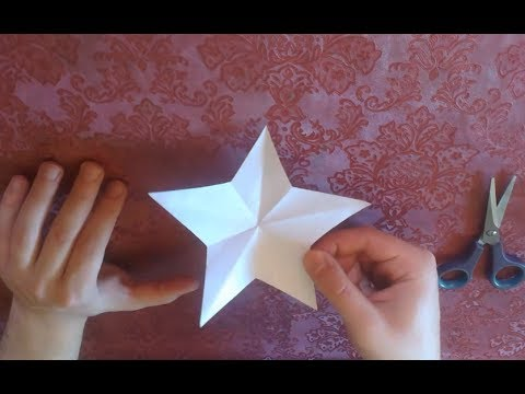 Cut a perfect star from paper with just one cut doovi for How to cut a perfect star
