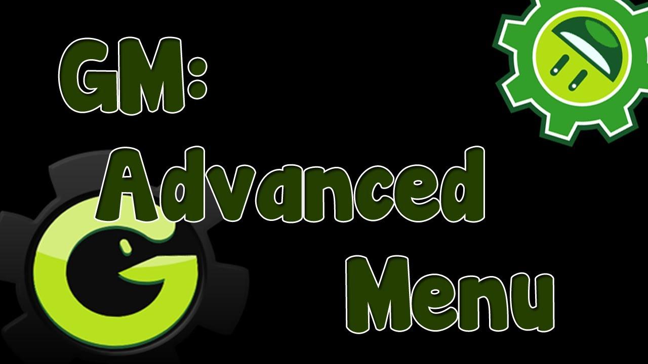 Game Maker Tutorial – Advanced Menu