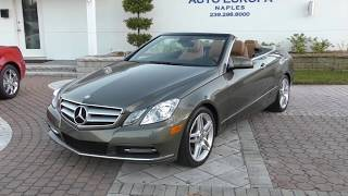 The W212 2013 Mercedes Benz E350 Sport Convertible is a beautifully styled 4-seat cabriolet