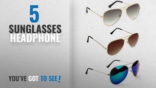 Top 10 Sunglasses Headphone [2018]: Sheomy Stylish Sunglasses 3 Combo Set Of 3 Uv Protect Aviators