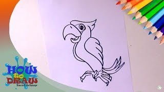 How to draw a bird   Hoe teken je een vogel