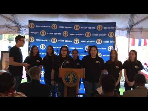 Glen Ridge Choir Sings at Ashenfelter Track Dedication
