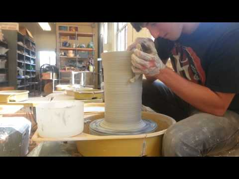 Throwing a Ceramic Fish on the Wheel