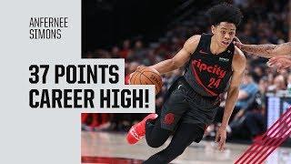 <b>Anfernee Simons</b> Career High 37 points Highlights vs. Sacramento ...