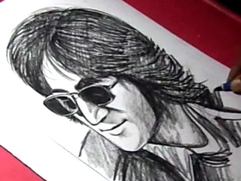 how-to-draw-english-singer-and-songwriter-john-lennon-drawing