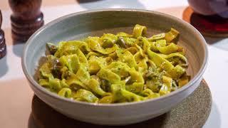 IGURU x NISEKO PIZZA - Pesto chicken & fettuccine pasta