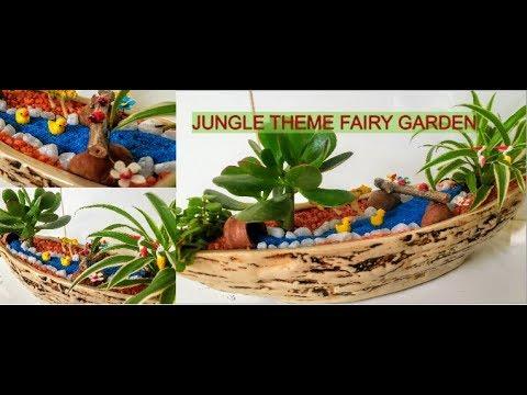 How to make very easy Fairy Garden -BACKYARD GARDENING