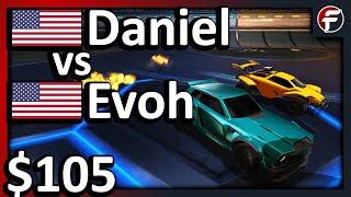 Daniel vs Evoh   $105 Rocket League 1v1 Showmatch
