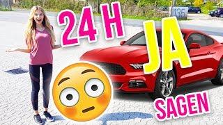 24 STUNDEN nur JA sagen 😱 Ich muss meinem Freund ein Auto kaufen!? | XLAETA