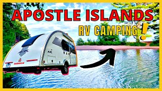 WOW! Apostle Islands Camṗing (Madeline Island) at Big Bay State Park FUN!