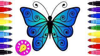 How to Draw Butterfly Coloring Pages for Kids | Art Colours for Children | Learn Colors for #Kids