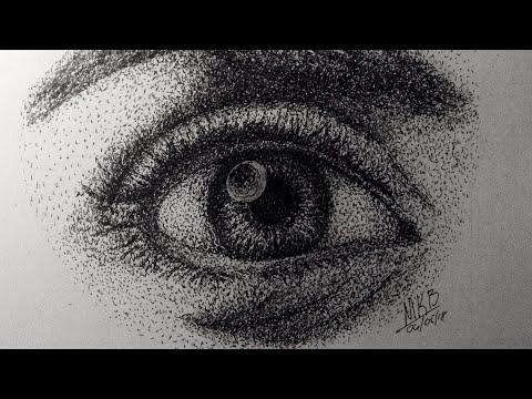 Eye Stippling | Timelapse Drawing