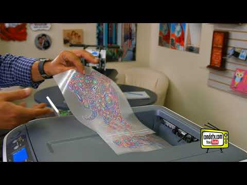 OkiData® Pro 6410 Neon Color - Feeding Transfer Paper - Video #3