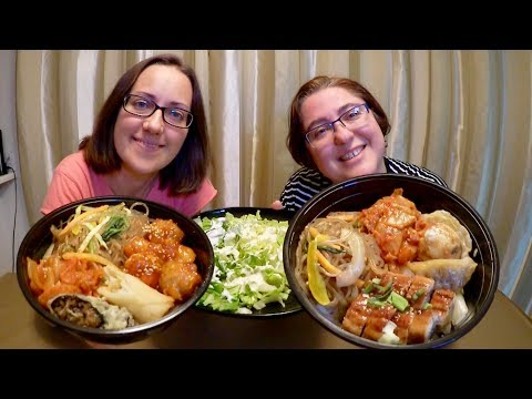 Korean Chicken Combo Rice Bowl And Unagi Combo Rice Bowl | Gay Family Mukbang (먹방) - Eating Show