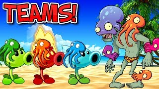 TEAMS Plants vs Zombies 2 - PvZ 2 Octo Zombie vs Plant Teams Part 1 - Plantas Contra Zombies 2