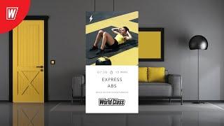 EXPRESS ABS с Анастасией Поздникиной 1 октября 2021 Онлайн тренировки World Class