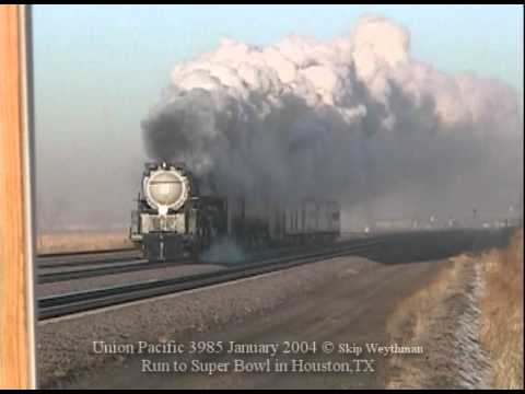 Union Pacific 3985 Steaming To The Super Bowl Jan2004
