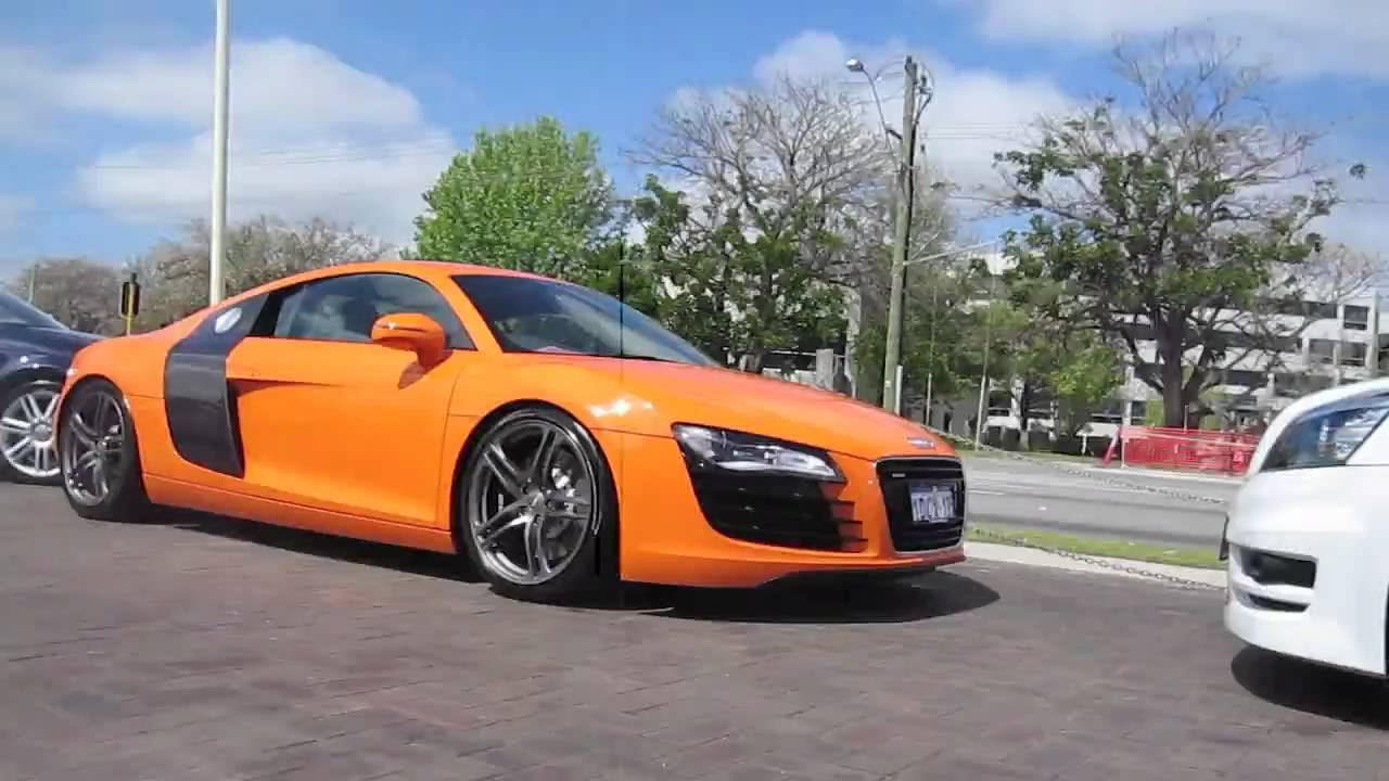 Orange Audi R8 Youtube