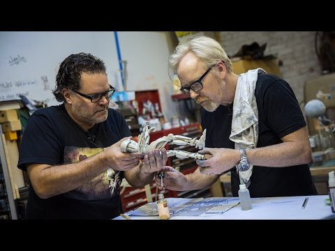 Adam Savage's One Day Builds: Cylon Models With Battlestar Galactica's Aaron Douglas!