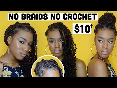 No Braids No Crochet No Tension Faux Locs + Crochet Rubber Band Method Option SaveandSlay