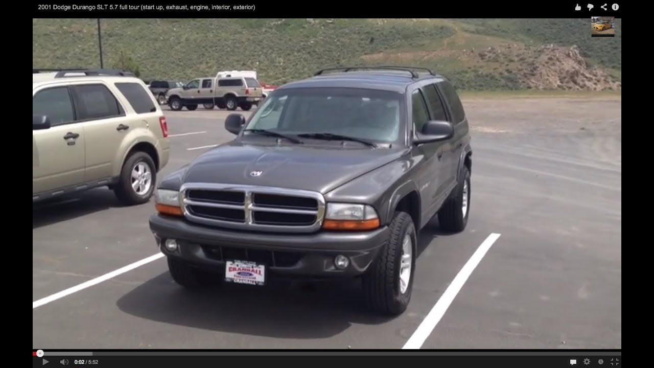 2001 dodge durango slt 5 7 short tour start up exhaust engine interior exterior youtube