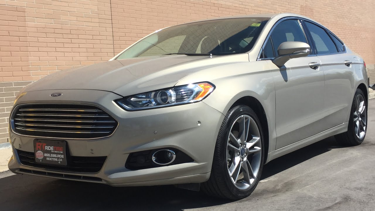 2016 Ford Fusion Titanium Awd Navigation Sunroof