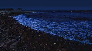 Sleep Better with Waves on a Dark Night - Spiaggia il Golfetto Beach - Super Relaxing Ocean Sounds screenshot 4