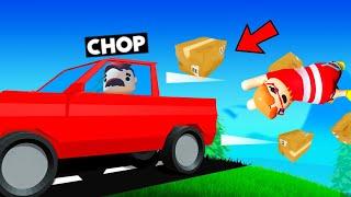 CHOP DELIVERED A SECRET PARCEL USING SUPER CARS