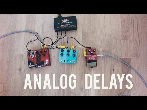 Analog delay shootout - Boss DM3 | JHS Panther Cub | Walrus Audio Bellwether
