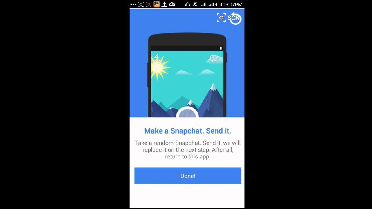 Mädchen, die Akte in Snapchat senden